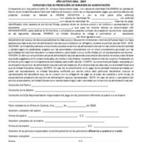 Convenio de Alimentación - Planteles Anexos - Periodo 2018/2019