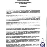 <br /><br /> Resolución Nro. C.U. 642-2019-UCACUE