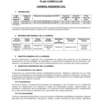 Diseño Curricular - Carrera de Ingeniería Civil