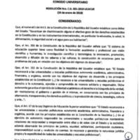 Resolución Nro. C.U. 601-2019-UCACUE
