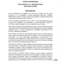 Resolución Nro. C.U. 538-2018-UCACUE
