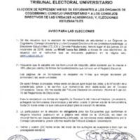 Aviso para Elecciones 2019