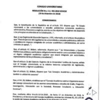 Resolución Nro. C.U. 592-2018-UCACUE