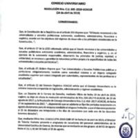 <br /><br /> Resolución Nro. C.U. 645-2019-UCACUE
