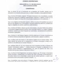 RESOLUCIÓN C.U. 384-2016-UCACUE
