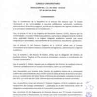 RESOLUCIÓN C.U. 337-2016-UCACUE