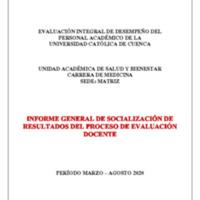 Informe Evaluación - Medicina