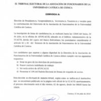 Convocatoria Elecciones AFUNCACUE