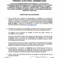 Aviso para Elecciones 2019 - 2da convocatoria
