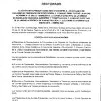 Convocatoria Rectoral - 2da convocatoria
