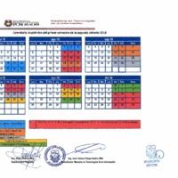 Agenda Académica julio 2018 - diciembre 2018 - Maestría en Tecnologías de la Información - I y II cohorte