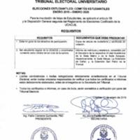 Requisitos - Elecciones Estudiantiles: Comités Estudiantiles enero 2019 - enero 2020