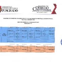 Agenda Académica enero 2019 - mayo 2019 - Maestría en Derecho Constitucional - I y II cohorte