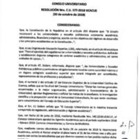 Resolución Nro. C.U. 577-2018-UCACUE