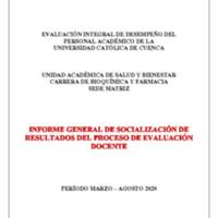 Informe Evaluación - Bioquímica y Farmacia