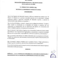 Resolución Administrativa Nro. 059-2019-R-UCACUE | Universidad Católica de Cuenca. | 18/09/2019