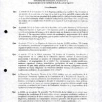 Resolución de la Acreditación - Carrera de Odontología