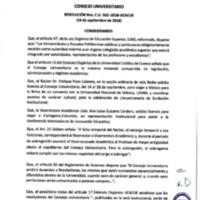 Resolución Nro. C.U. 562-2018-UCACUE<br /><br />