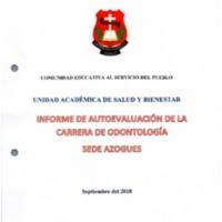 Informe de Autoevaluación - Carrera de Odontología - Sede Azogues