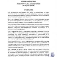 Resolución Nro. C.U. 536-2018-UCACUE