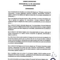 Resolución Nro. C.U. 591-2018-UCACUE