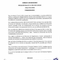 RESOLUCIÓN C.U. 060-2014-UCACUE