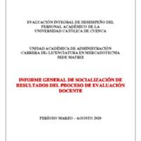 Informe Evaluación - Licenciatura en Mercadotecnia