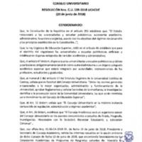 Resolución Nro. C.U. 539-2018-UCACUE