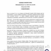 RESOLUCIÓN C.U. 035-2014-UCACUE