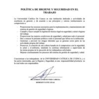 UCACUE - Salud Ocupacional - Politica de Seguridad.pdf