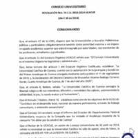 RESOLUCIÓN C.U. 054-2014-UCACUE