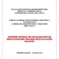 Informe Evaluación - Arquitectura y Urbanismo