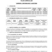Plan Curricular - Carrera de Contabilidad y Auditoría