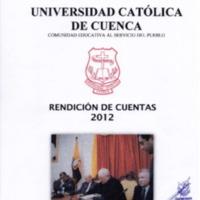 Informe de Labores Rectorado 2012