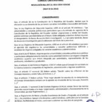 RESOLUCIÓN C.U. 048-2014-UCACUE