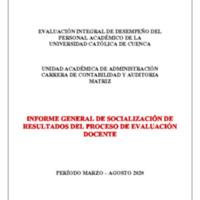 Informe Evaluación - Contabilidad y Auditoría