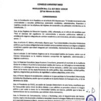 Resolución Nro. C.U. 617-2019-UCACUE