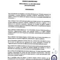 <br /><br /> Resolución Nro. C.U. 644-2019-UCACUE