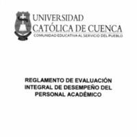 Reglamento de Evaluación Integral de Desempeño del Personal Académico