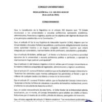 RESOLUCIÓN C.U. 163-2015-UCACUE