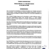 Resolución Nro. C.U. 558-2018-UCACUE