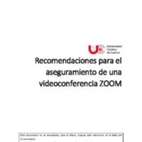 Recomendaciones para el aseguramiento de una videoconferencia ZOOM<br /><br />