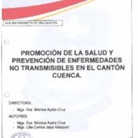 Promoción de la salud y prevención de enfermedades no transmisibles en el cantón Cuenca