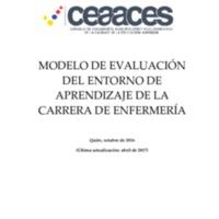 Modelo de evaluación  de la carrera de enfermería
