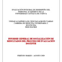 Informe Evaluación - Medicina Veterinaria y Zootecnia