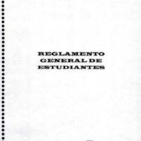 Reglamento General de estudiantes