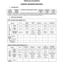 Perfiles Docentes - Carrera de Ingeniería Industrial