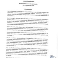 Resolución Nro. C.U. 730-2019-UCACUE<br /><br />