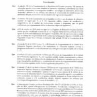 Resolución y anexo de la Acreditación - Carrera de Odontología