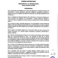 Resolución Nro. C.U. 589-2018-UCACUE